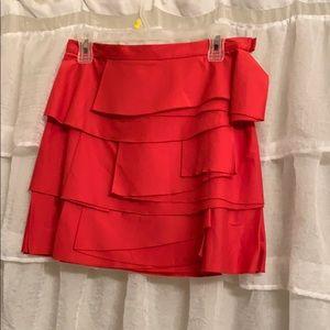 BCBG flirty flat ruffle skirt